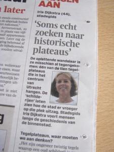 Interview in het Algemeen Dagblad/Utrechts Nieuwsblad van 10-4-2013